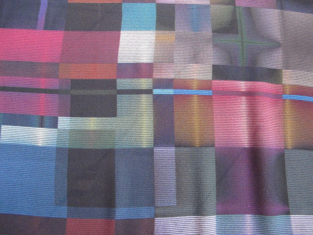 Thunderstorm Colours Irregular Plaid Print Viscose Sold