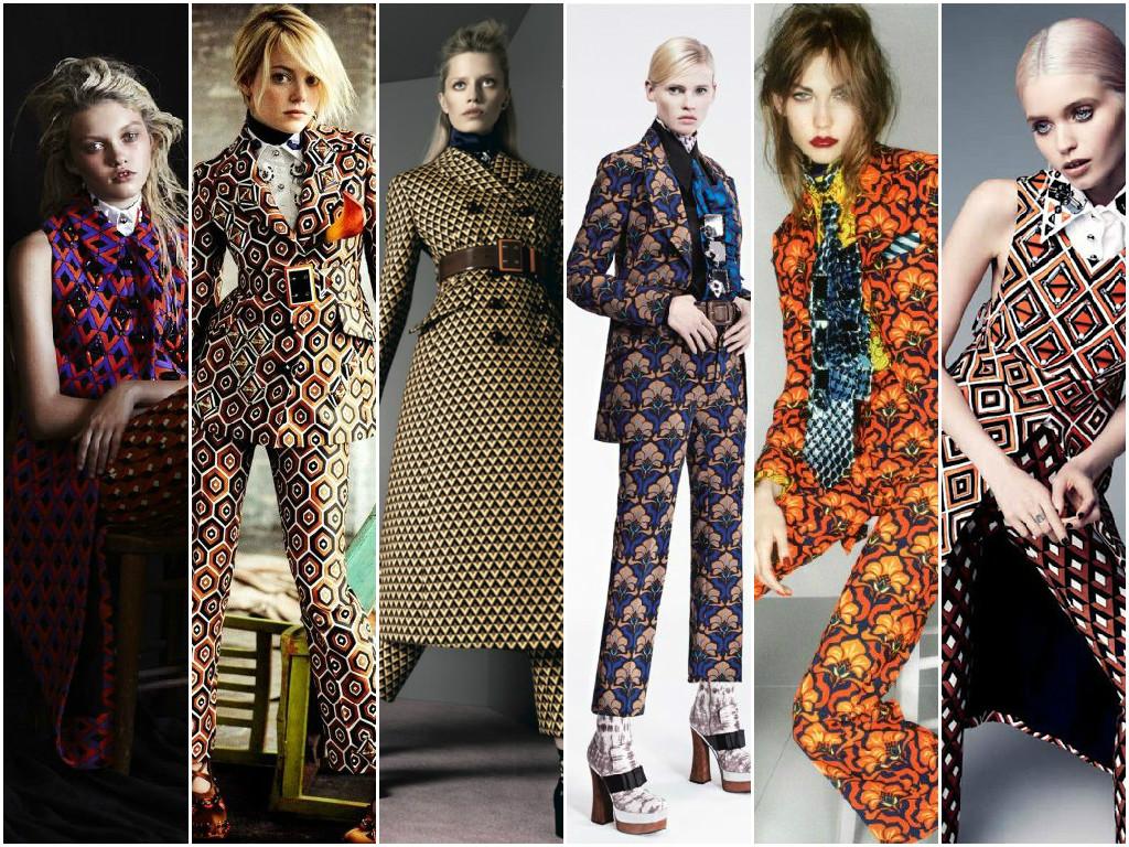 Prada graphics suits