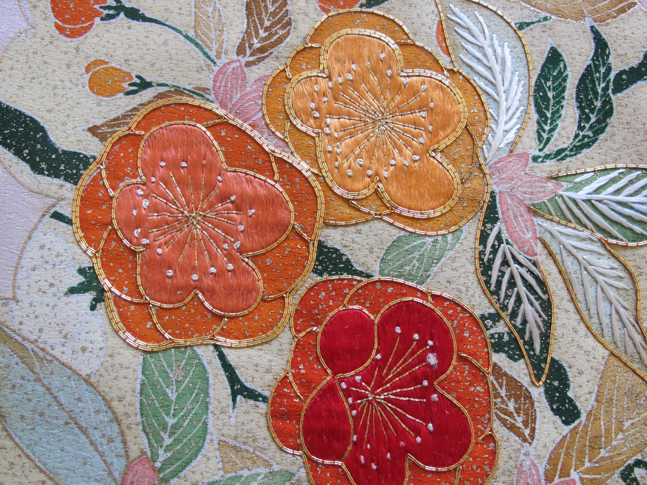 Japanese Embroidered Kimono Silk Roll Sold Designer