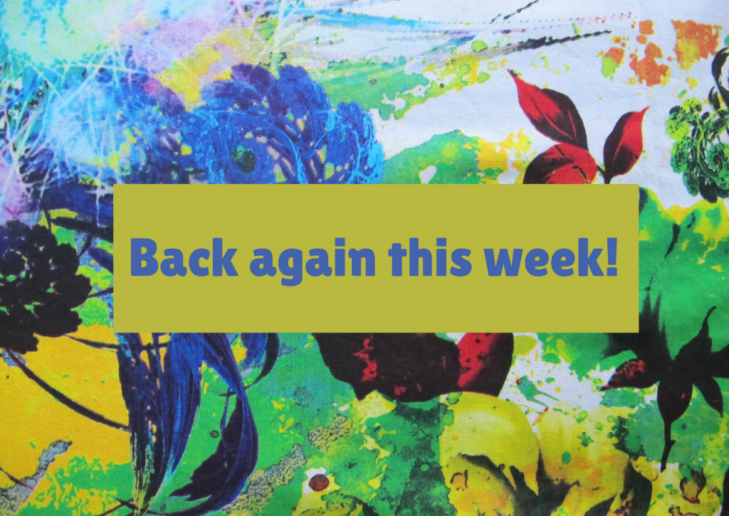 Copy of Back again this week!